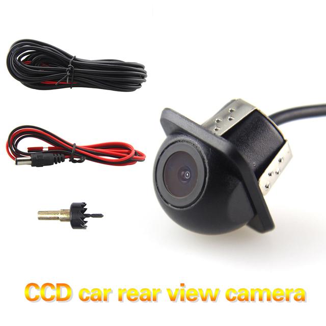 Mais novo Car Universal Câmera CCD Estacionamento Câmera de Visão Traseira Reversa Câmera de Segurança Do Veículo com 170 Graus de Visão Noturna