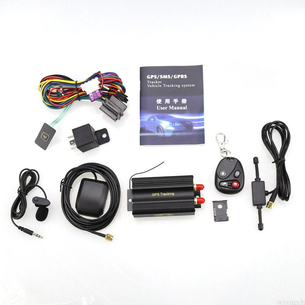Traqueurs GPS de voiture dispositif de suivi de véhicule coupé huile localisateur GPS Portable SIM Anti-vol alarme de voiture moniteur vocal détecteur GPRS