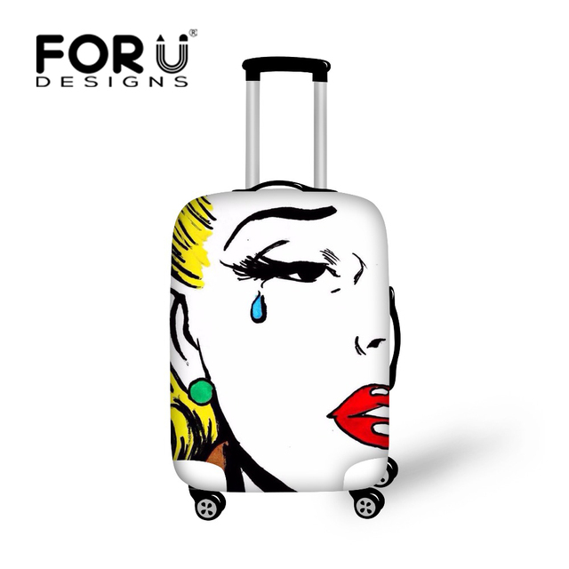32745b456 Vintage Popular Art Luggage Covers Fashion Women Girls Suitcase Cover Suit  for 18-30 Inch