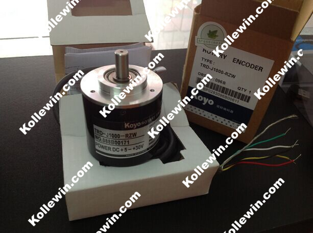KOYO TRD-J1000-RZW 1000P/R Photoelectric Incremental Rotary Encoder, 1000PPR TRDJ1000RZW omron encoder 1000p r e6b2 cwz6c pulse photoelectric incremental rotary encoder