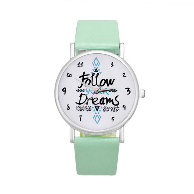 Brand Fashion Follow Your Arrow Watch Women Dress Watch Casual Leather Vintage B
