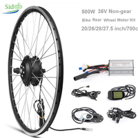 DC Brushless Gear Hub Motor Wheel Conversion 36V 500W Front Wheel Engine Electric Bicycle Accessories Bicycle ebike