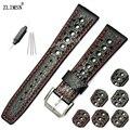 20mm 22mm MEN Dark Silver Brown Black Watchbands Genuine Leather Watch Band Belt Men Women Strap Relojes Hombre 2017