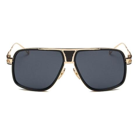 Men Fashion Square Sunglasses Mirror Shades Metal Big frame Vintage Brand Sun Glasses Women Clear Lens Eyewear Lahore