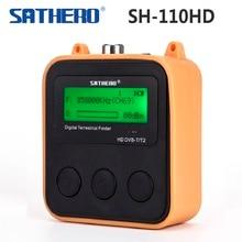 [정품] sathero SH 110HD dvb t DVB T2 포켓 디지털 지상파 파인더 lcd 화면 지원 qpsk DVB T2 신호 디지털 측정기