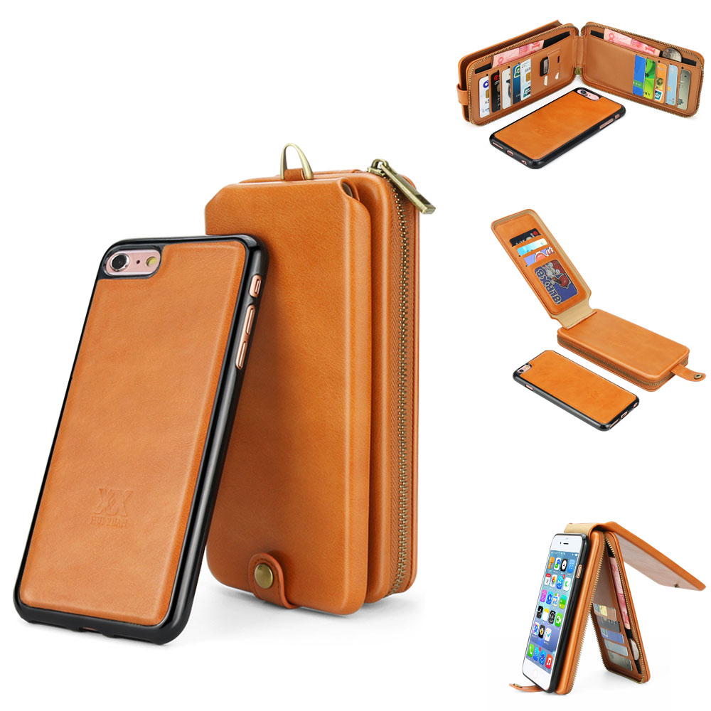 PU Leather Phone Case For iPhone 6 Luxury Wallet Mobile Accessories For iPhone 6 Plus Cases Two-in-one Mobile Phone Case Wallet