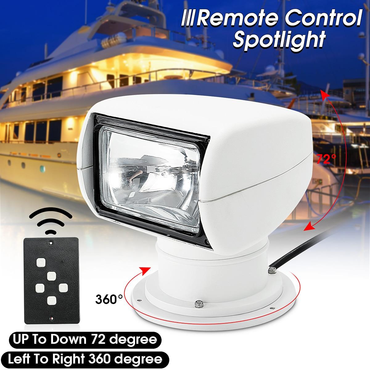 Bateau Camion Voiture Spotlight 12 v 100 w 2500LM 3200 k PC + Aluminium Marine Projecteur Ampoule Télécommande multi-angle Blanc