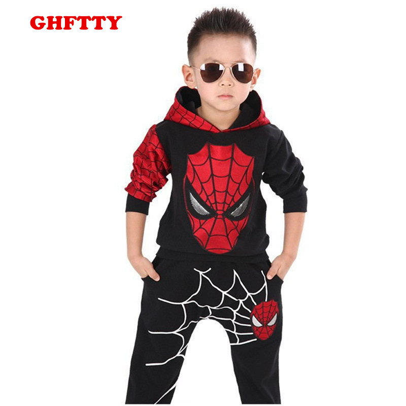 Spiderman Suit Children Boys Clothing set Baby Boy Spider man Sports Suits Kids Clothing 2pcs Sets Spring Autumn  Tracksuits lavla2016 new spring autumn baby boy clothing set boys sports suit set children outfits girls tracksuit kids causal 2pcs clothes