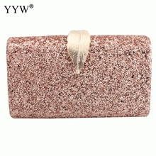 2019 New Sequin Crossbody Bag For Women Evening Clutch Bags Female Mini Party Clutches Purse With Chain Rectangle Shoulder Bag цена в Москве и Питере