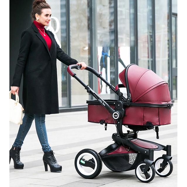 2en1 de alta paisaje bidireccional amortiguadores cochecito de bebé puede sentarse bajo las pieles russin envío gratis