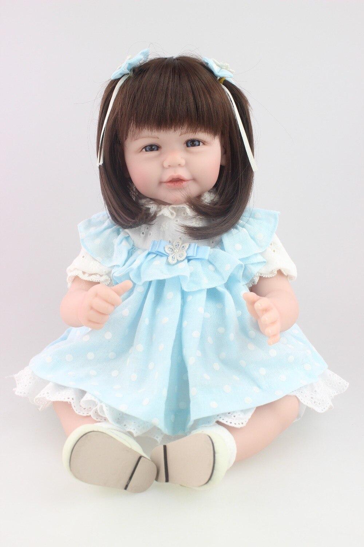 "ФОТО 21"" 52cm cheap dollar 100% handmade vinyl adora lifelike sexy newborn baby bonecas bebe kid toy silicone reborn baby dolls"