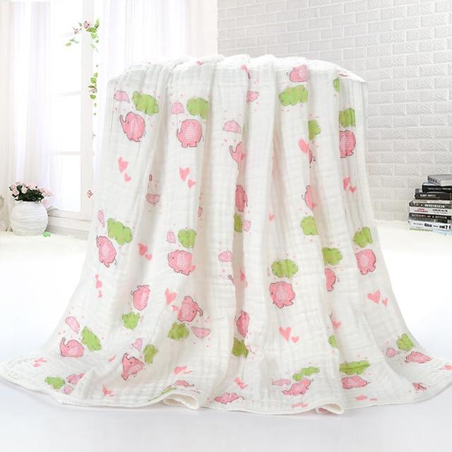 4 цветов Lovly мультфильм животных пеленальный симпатичные одеяло детей постельных принадлежностей для новорожденных мальчиков и девочек ванны одеяло