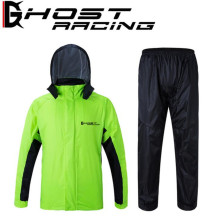 GHOST RACING Motorcycle Jacket + Motorcycle Pants Riding Raincoat Breathable Waterproof Windproof Motocicleta Hood Rain Suit hi vis en471 waterproof windproof breathable safety reflevtive workwear rain suit rain jacket rain pant free shipping