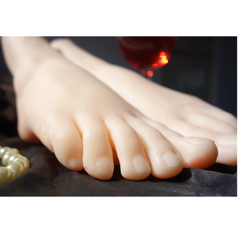 Newest silicone girls ballerina dancer gymnast foot feet pointed toes fetish toys, silicone foot model