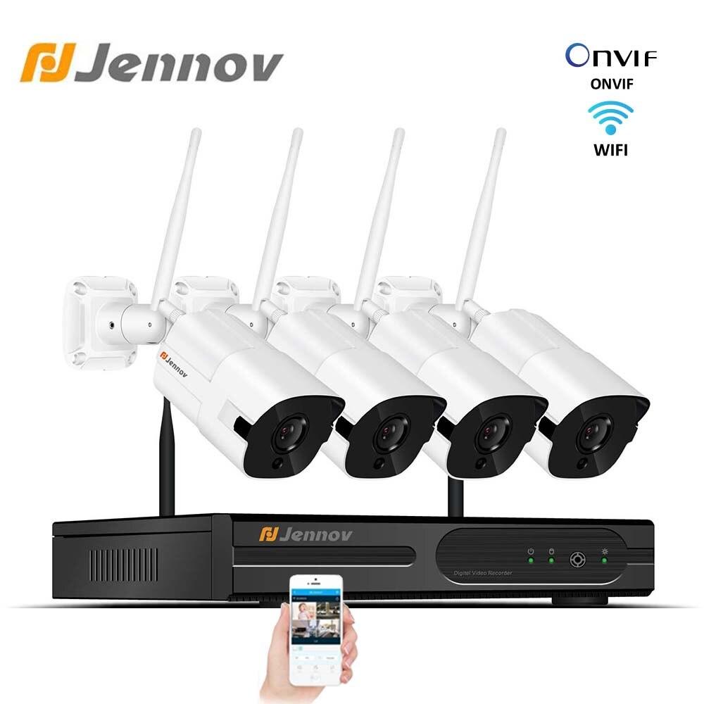 Jennov Home Security Wireless CCTV Camera kit ip Camera 4CH 2MP NVR Wifi IP Video Surveillance 1080P Outdoor IP66 Cameras System