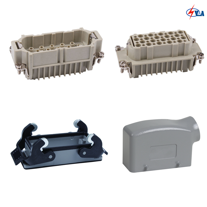 HD-040 40 pins 10A Crimp terminal heavy duty connector China price hd 007 surface mounting silver plated surface crimp terminal current 10a male female 250v 7 pins connector
