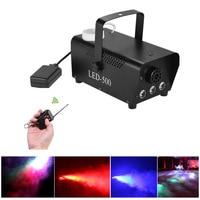 Remote 400W LED RGB 3in1 Smoke Machine Full Color Fog Machine Professional Stage Smoke Ejector DJ