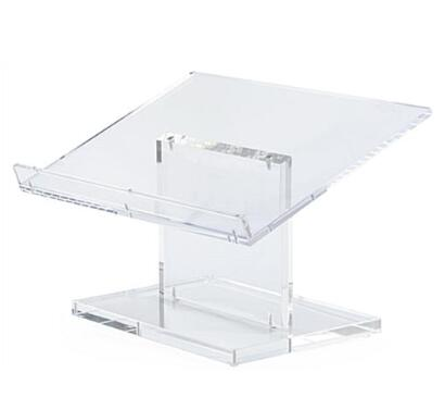 Workshop Series Acrylic Tabletop Podium, Easy Assembly - Clear Tabletop Lecterns