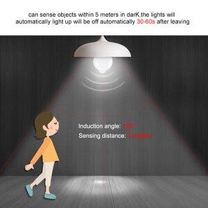 Image 4 - 12 w 18 w pir sensor de movimento lâmpada led e27 b22 ampola led inteligente lâmpada auto fora/em ip42 noite lâmpada interior ao ar livre segurança