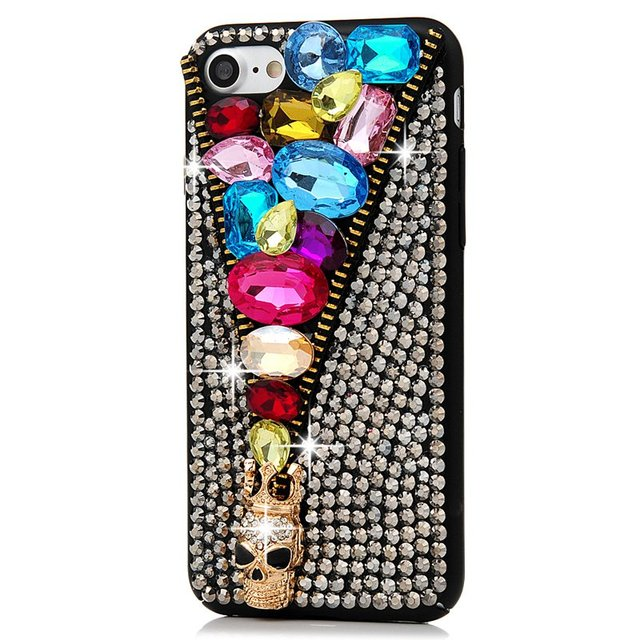 For iPhone 7 Cover Case Rhinestone Case Handmade Luxury 3D Glitter Crystal Diamond Hard PC for iPhone 7 4.7″