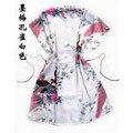 Pavo Real blanco de Las Mujeres Chinas de Seda Rayón robe pijamas Albornoz Bata Nueva Llegada Un Tamaño de La Flor Envío Gratis
