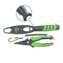 New color Multifunctional Aluminium Fishing Pliers set with fishing lip grip  Weight Scale & Fishing pliers  Tackles new style folding fishing lip grip fishing gripper fishing tool with light weight aluminium fishing pliers tackle
