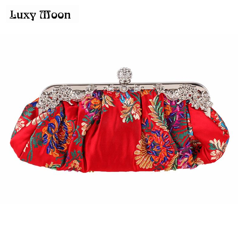 elegant Luxy Moon Embroidery Bag China Evening Day Clutch Wedding Bride Bags Chain Handbags Shoulder Bag Cheongsam chi pao Bag