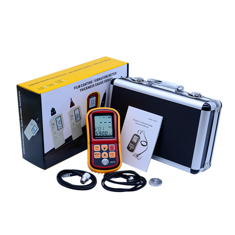 GM130 Digital Ultrasonic Thickness Gauge tester steel thickness tester 1.0 to 300MM Sound Velocity Meter with Carry Box gm130 digital lcd display ultrasonic thickness gauge metal testering measuring instruments 1 0 to 300mm sound velocity meter