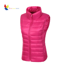 Winter Jacket  Women Vest 100% White Duck Down Vest  2015 Winter Vest Women Sexy Lovers Slim Short Jackets Parka Plus XXXL