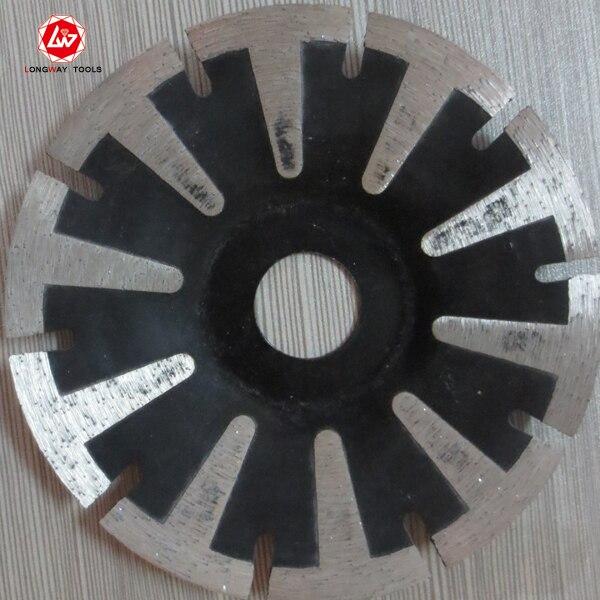 125x7x22.23-15.88mm T shape cold press segment diamond saw blade for bricks, granite,marble and concrete.