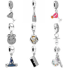 Pacifier Champagne Celebrate Mickey Sorcerer Hat Night Out Pendant Charm Fit Pandora Bracelet 925 Sterling Silver Bead Charm