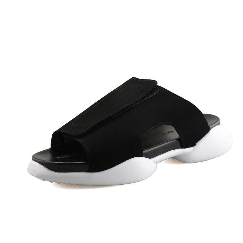 32362760e9d7 ... Rick Seak Men Rome Flip Flops Luxury Trainers Men Platform Casual Shoes  Slippers Slides Summer Flats ...