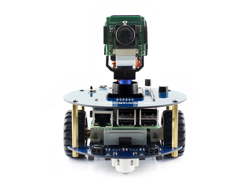 AlphaBot2 robot building kit: 2018 new original <font><b>Raspberry</b></font> Pi 3 Model <font><b>B</b></font>+,RPi Camera (<font><b>B</b></font>)+Micro SD Card card+15 Acc image