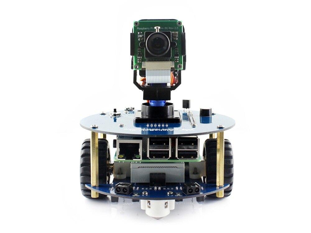 Kit de construction de robot AlphaBot2: 2018 nouveau Raspberry original Pi 3 modèle B +, caméra RPi (B) + carte Micro SD + 15 Acc