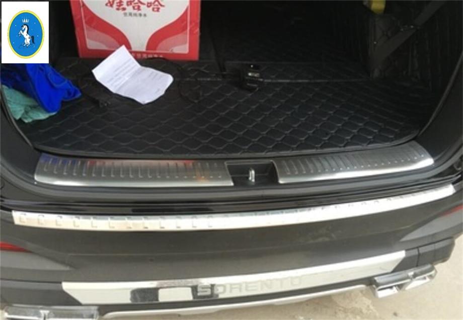 New Style For Kia Sorento L Stainless Steel Accessories Rear Bumper Protector Sill on Kia Sorento Rear