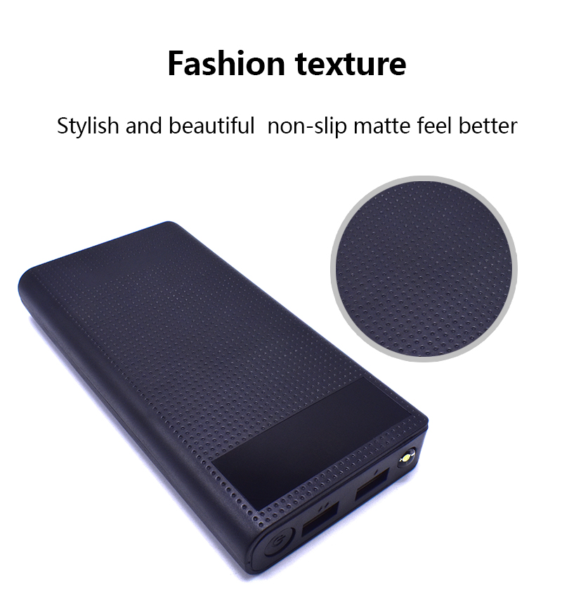 20000MAh PowerBank with LED Screen Display Dual USB Charging Power Bank External Battery Charger Portable Feitile Store