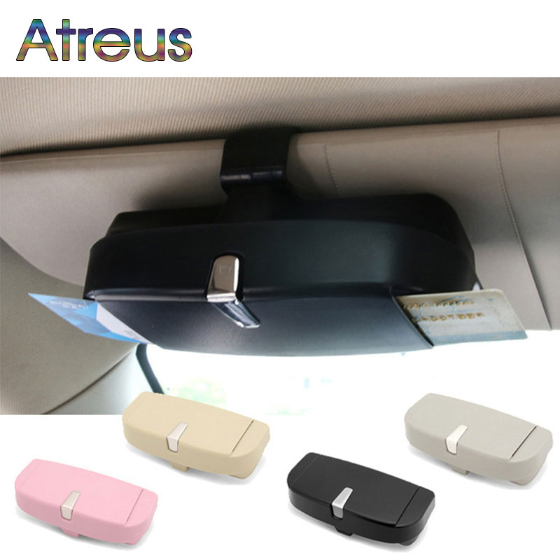 Car Glasses Box Card Holder <font><b>For</b></font> MG Subaru Impreza XV <font><b>Hyundai</b></font> Solaris <font><b>tucson</b></font> I30 IX25 creta Kia Rio 2 3 4 Ceed Sportage 2018 <font><b>2019</b></font> image
