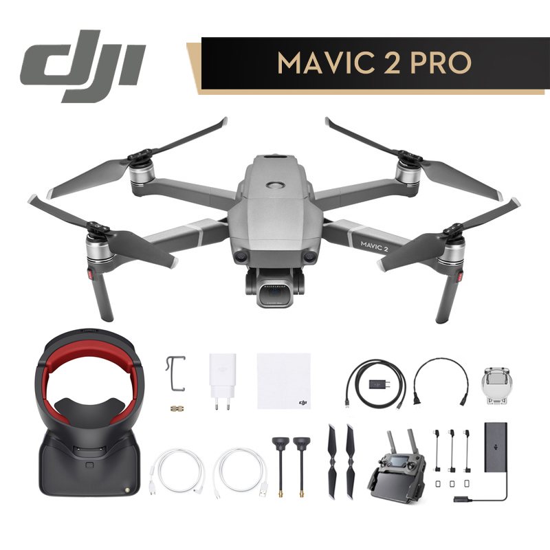 DJI Mavic 2 Pro / Zoom & DJI Goggles RE Combo In Store 1080P with 4K Video Camera Drone RC Helicopter FPV Quadcopter Original квадрокоптер набор dji mavic pro 4k quadcopter бпла красный
