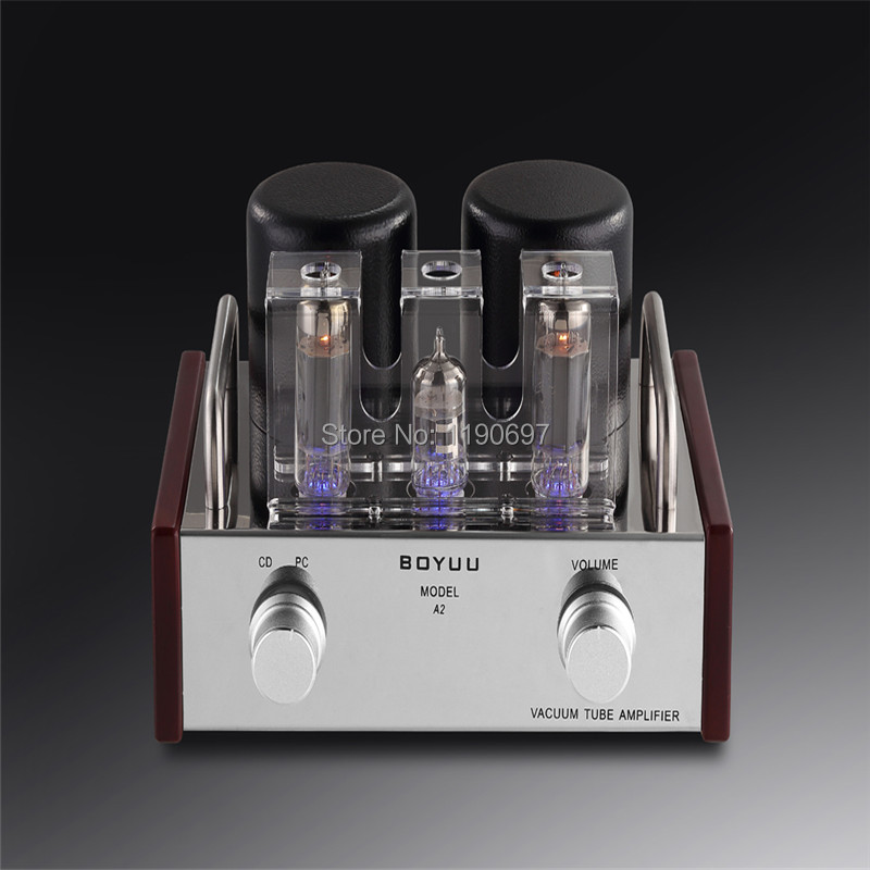 6P14(EL84)Single Ended Tube Amplifier EL84 +12AX7 Tube Hifi  Audio Vacuum Tube Power Amplifier silver mini tube amplifier appj pa0901a 6n4 6p14 tube upgrade to el84 12ax7b original minwatt n3 smallest tube audio amplifier