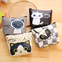 40PCS / LOT Animal Cat Coin Purses Holder Women Mini Wallets Girl Money Bag Coin Bag Children Zipper Small Pocket Wallet цена