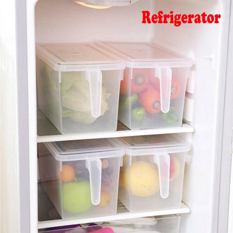 Plastic Refrigerator Eggs Storage Box 15 Eggs Holder Food Storage Container Case Large Capacity
