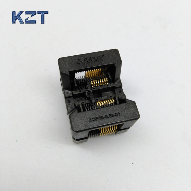 SSOP16 TSSOP16 OTS-16(28)-0.65-01 KZT IC Test Burn-in Socket Programming Adapter 0.65mm Pitch 4.4mm Width