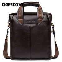 100 Top Genuine Leather TIGER TOWN Brand Cowhide Business Messenger Bag Men Portable Laptop Casual Purse