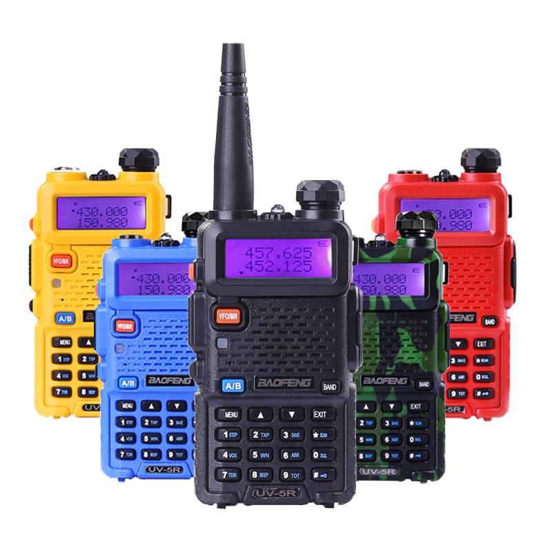 Baofeng UV-5R Walkie Talkie Portable Two Way Radio 5W CB Radio 136-174MHz & 400-520MHz Radio ComunicadorBaofeng UV-5R Walkie Talkie Portable Two Way Radio 5W CB Radio 136-174MHz & 400-520MHz Radio Comunicador