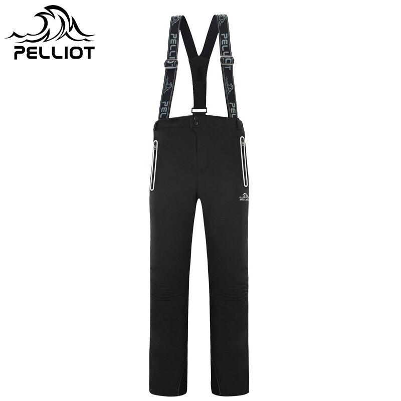 2019 PELLIOT Waterproof Winter Ski Pants Men Thicken Warm Snowboard Pants Ski Trousers With Belt Outdoor Sports Trousers High