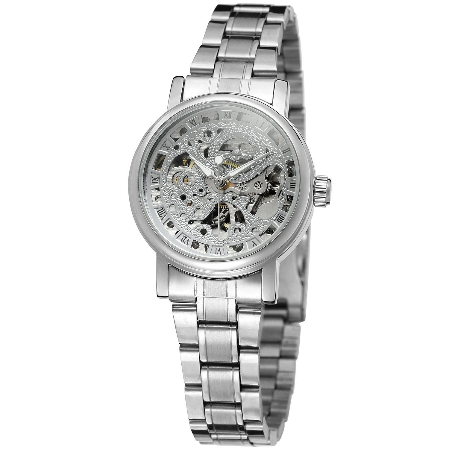 WINNER Ladies Classic Automatisk Mekanisk Watch Selvvindende Skeleton - Dameure - Foto 2
