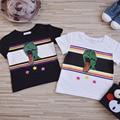 2017 Dinosaur Print Kids T shirt Family Matching Summer Clothes Mother Daughter Matching Clothing Boys Girls Tees Tops YA396