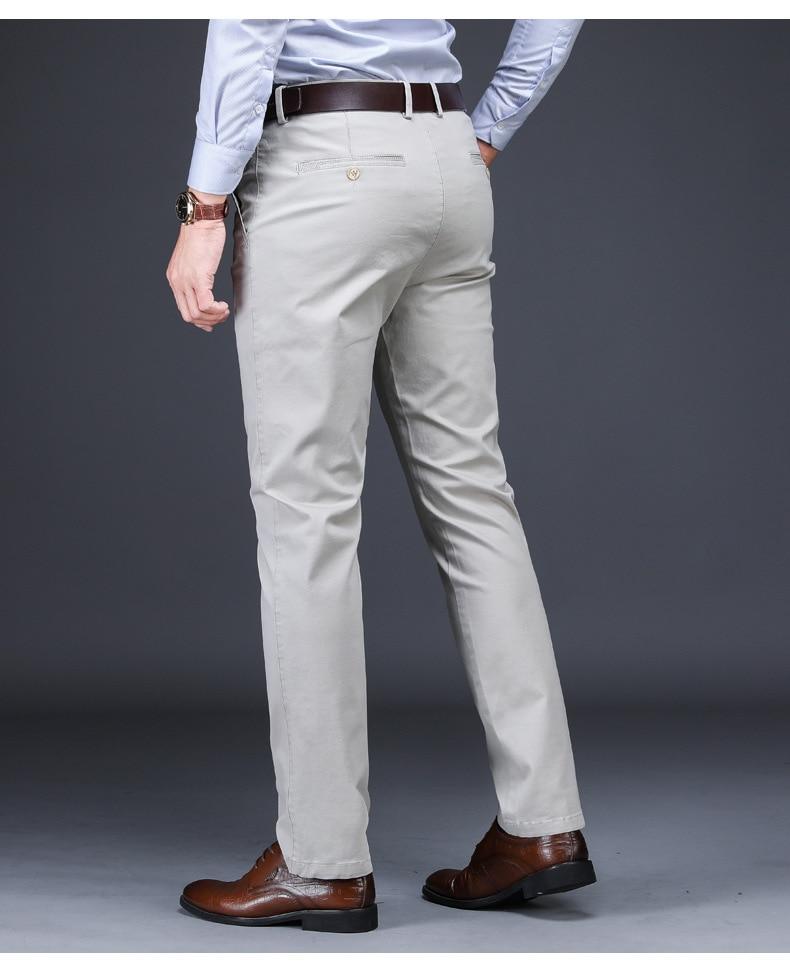 7e2a9b3bd0c ICPANS Men Suit Pants Length Clasic Men Dress Pants Slim Fit Trousers  Office Suit Pants Mens Red Plus Size 44 42 40