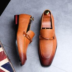 Image 3 - Formale schuhe männer Leder Frühling Herbst Oxford Faulenzer Atmungs Wohnungen Männer Sapatos Masculino Bequeme Schuhe zapatos de hombre