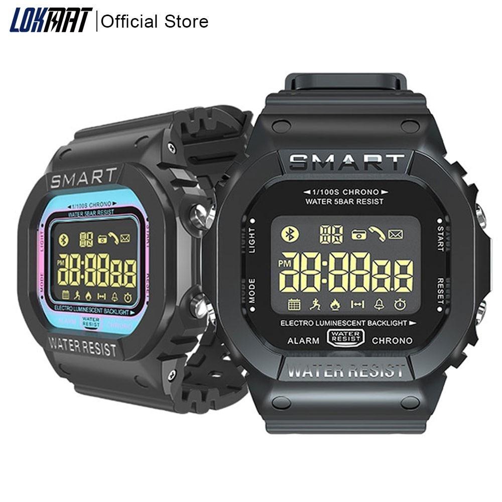 2b9f9e937 LOKMAT Bluetooth Smartwatch Sport pedometer Waterproof Call Reminder clock  digital Smart Watch men For ios Android Phone